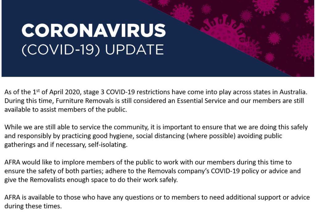 AFRA COVID-19 Update